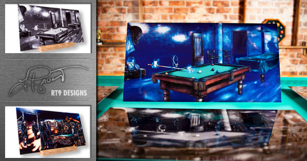 STUNNING New Billiard Art from RT9 Designs and PoolDawg!